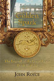 """The Golden Spark"" bookcover"