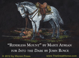 Into the Dark (bookcover) WWII cavalry horse