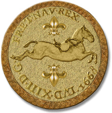 """""""Capriole"""" gold coin from The Golden Spark - Book #2 of The Legend of the Great Horse trilogy"""