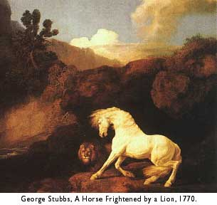 stubbs, horse frightened by lion, 1770