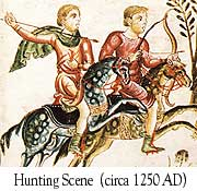 Hunting scene (c. 1250 AD)