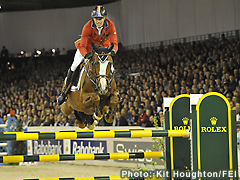 Rich Fellers (USA) riding Flexible winner of the Rolex FEI World Cup™ Final 2012. - Photo: Kit Houghton/FEI