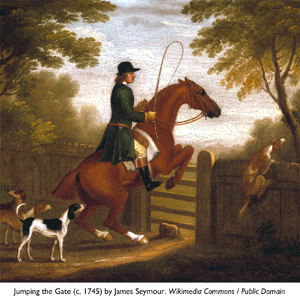 Jumping the Gate (c. 1745) by James Seymour - Wikimedia Commons / Public Domain